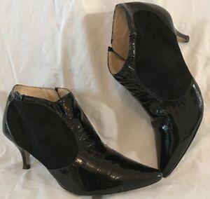 Autograph Black Ankle Leather Boots Size 7 (996vv)