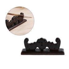 Vintage Wooden 4 Slots Brush Rest Stand Chinese Calligraphy Pen Rack Holder