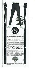 Publicité Advertising 108  1963   vetements ski  fuseaux Gef novlan nylfrance