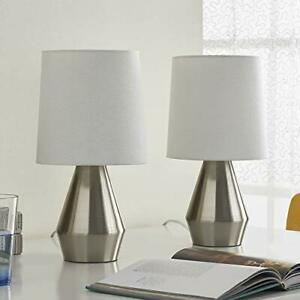 USB-Pair of Table Lamp, Maxax Bedside Lamp&Modern Table with 2 Useful USB Quick