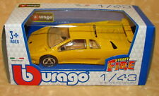 MODELLINO AUTO BURAGO LAMBORGHINI DIABLO GIALLA 1:43 cod.14417