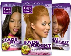 Dark and Lovely Fade Resist Rich Conditioning Lightener Hair Color Permanent 1PC