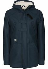 Button Wool Hip Length Parkas for Men