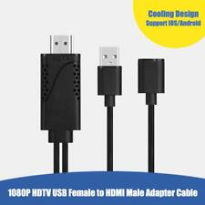 USB Female to HDMI Male 1080P HDTV TV Digital AV Adapter Cable Converter Cord