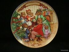 Vtg 1989 Collector Plate Together for Christmas Bear Family Makes Music Mib Fr S