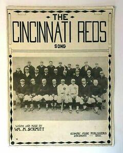 RARE 1919 The Cincinnati Reds Song Sheet Music Baseball Black Sox World Series