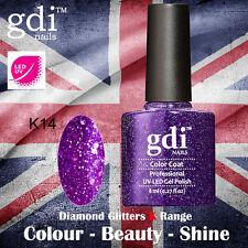UK SELLER Gdi Nails Diamond Glitters K14 UV/LED Gel Soak Off nail polish