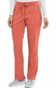 Grey's Anatomy #7228 Elastic Drawcord Waist Scrub Pant in Pale Vermillion Size M