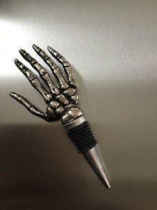 Williams Sonoma Pottery Barn Skeleton Hand Bottle Wine Stopper Halloween