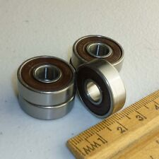 Lot of 4 NSK 608D1 Sealed Ball Bearing, 8x22x7mm Skateboard, New no box