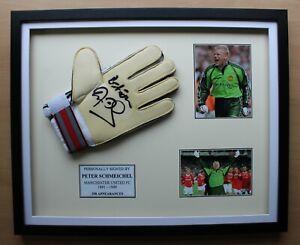 Peter Schmeichel Signed & Framed Manchester United Reusch Glove Display COA