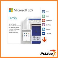 Microsoft Office 365 Home 1 Year Subscription Up to 6 Users