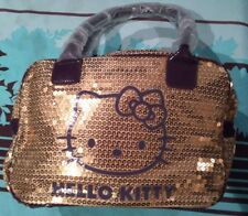 Sac Hello Kitty Or & Violet à sequins NEUF