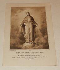 Image Pieuse : L'IMMACULEE CONCEPTION O Marie conçue sans péché...