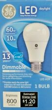 4 Pack of New GE 10W LED Bulbs Dimmable A19 60W Replacement Daylight 800 Lumens