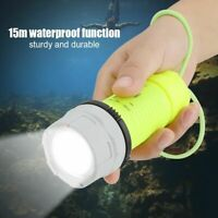 15M Outdoor Underwater LED Scuba Diving Flashlight High Bright Torch Waterproof