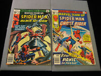 Marvel Team-Up #57 and #58 (1977, Marvel) Spider-Man, Black Widow, Ghost Rider