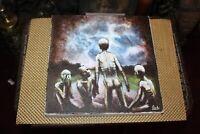 Original Outsider Art Painting Evil Demonic Skeleton Men Signed Ault