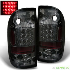 For Sm 95-00 Toyota Tacoma LED Tail Light Rear Smoke Brake Lamps Pair Set Light