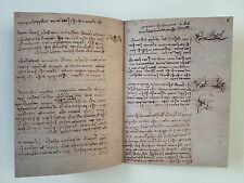 Codice Sul Volo Degli Uccelli CODEX ON THE FLIGHT OF BIRDS Leonardo da Vinci