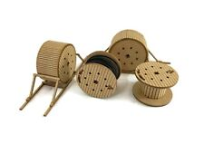 4 x LARGE CABLE DRUMS WAGON LOAD KIT FOR OO GAUGE 1:76 MODEL RAILWAY - LX231-OO