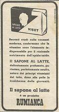 W6516 Sapone al latte VISET - Rumianca - Pubblicità 1948 - Advertising