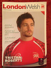 London Welsh v Bordeaux Begles - Rugby Programme Played October 23rd 2014