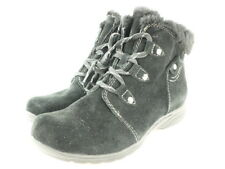 Earth Origins Womens Cooper Ankle Boot Size 10 Black Suede