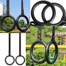 Olympic Shoulder Strength Training Rings Gymnastic Ring W/ Nylon Webbing Straps