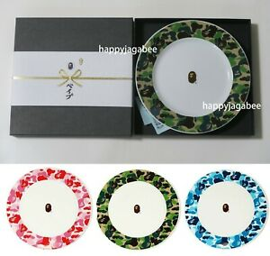 A BATHING APE Goods ABC CAMO DISHES Plate 3colors From Japan New