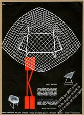 1953 Harry Bertoia chair Herbert Matter photo Knoll Associates vintage print ad