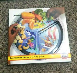 Constructive Eating Fairy Garden Children's Plate - Purple Multi-Award Winning