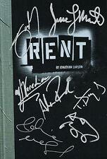 RENT CAST SIGNED Book Anthony Rapp Adam Pascal Idina Menzel Diggs Vega Martin