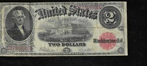 """1917 $2 Large United States Note """"VF"""" *Free S/H After 1st Item*"""