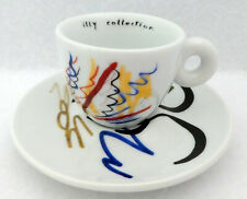 Illy Collection 2004 Pen Tests Padraig Timoney Espresso Cup & Saucer Demitasse d