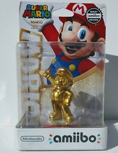 NEW Amiibo Gold Super Mario Smash Brothers Switch 3DS WiiU 1st Print US Version