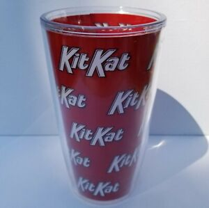 Tervis Tumbler Kit Kat 16 oz Insulated Acrylic Cup with Red Wrap NO LID Made USA