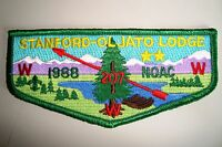 OA STANFORD-OLJATO LODGE 207 STANFORD AREA COUNCIL SCOUT PATCH 1988 NOAC FLAP