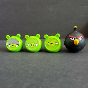 Angry Birds Knock On Wood Game Replacement Parts Pieces Lot of 3 Pigs 1 black