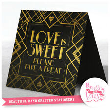 Wedding Party Gold Sign Love is Sweet Buffet Art Deco Great Gatsby Inspired