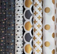 PATCHWORK NEW FABRIC ARROWS TRIBAL 100% Cotton POPLIN Animal Material Quilting
