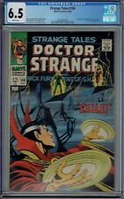 CGC 6.5 STRANGE TALES #168 WHITE PAGES LAST ISSUE BEFORE DOCTOR STRANGE 169