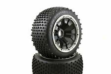 Dirt Buster Buggy Wheels Black Poison Rims Rear Pair 170x80 Fits HPI Baja KM 1/5