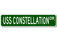 USS CONSTELLATION CV 64 Ship Navy Sailor Metal Street Sign - Aluminum
