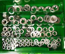 150 Teile acciaio inox scatola SCORTA DADI U DISCHI DIN 934 DIN 125 M6 - M12