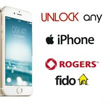 Rogers Fido Canada Unlock iPhone 8+ 8 7+ 7 6+ 6 5s 5c 5 4s 4 Premium