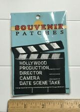 NIP Hollywood CA Movie Film Director Slateboard Clapper Embroidered Patch Badge