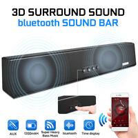 Blitzwolf 1200mAH Wireless bluetooth Sound Bar Speaker Home Theater TV AUX USB