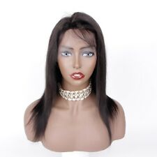 """On Sales 10"""" Real Human Hair Full Lace Wig With Baby Hair Natural Straight Hair"""