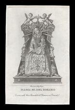santino incisione 1800 MARIA SS.DEL ROSARIO-RECANATI